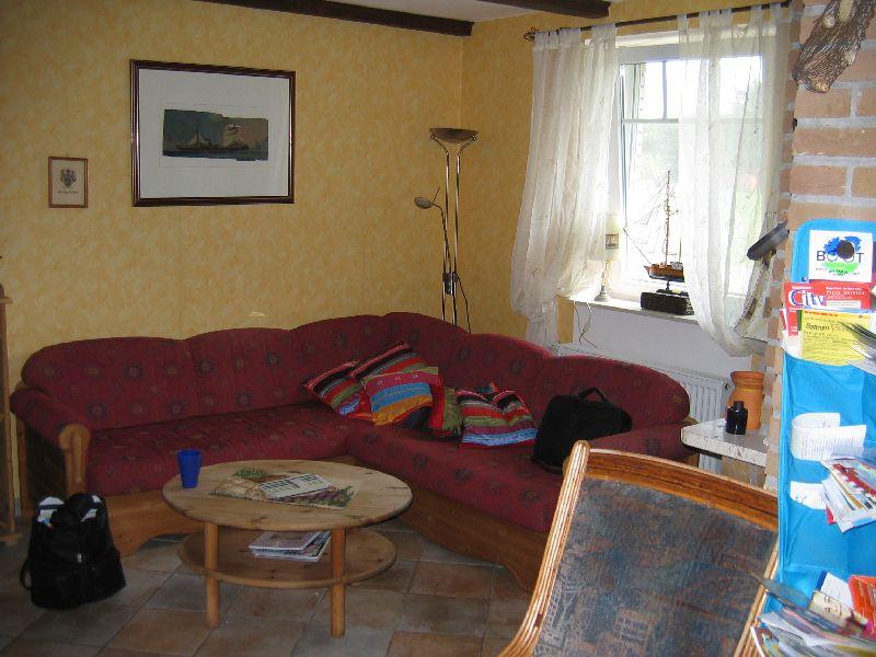 Das Ferienhaus - Sitzecke neben der Küche