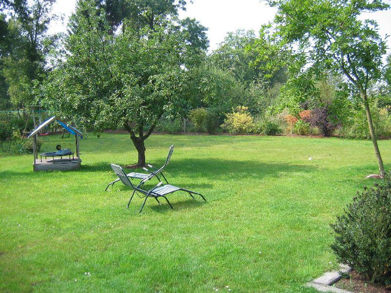 Das Ferienhaus - Garten die Mitte