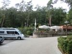 Bad Frankenhausen, WoMo-Parkplatz eines Gasthofs. Frühstück war nicht so der Reißer, aber das Abendessen war ganz OK.