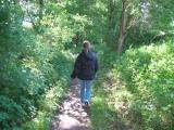 Ein schmaler Wanderweg führte einmal rund um den See, so dass man diesen in 30-45 Minuten einmal umrunden konnte.